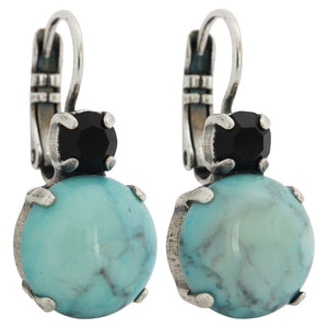 "Mariana ""Zanzibar"" Silver Plated Double Drop Large Statement Swarovski Crystal Earrings, 1037RM 1081"