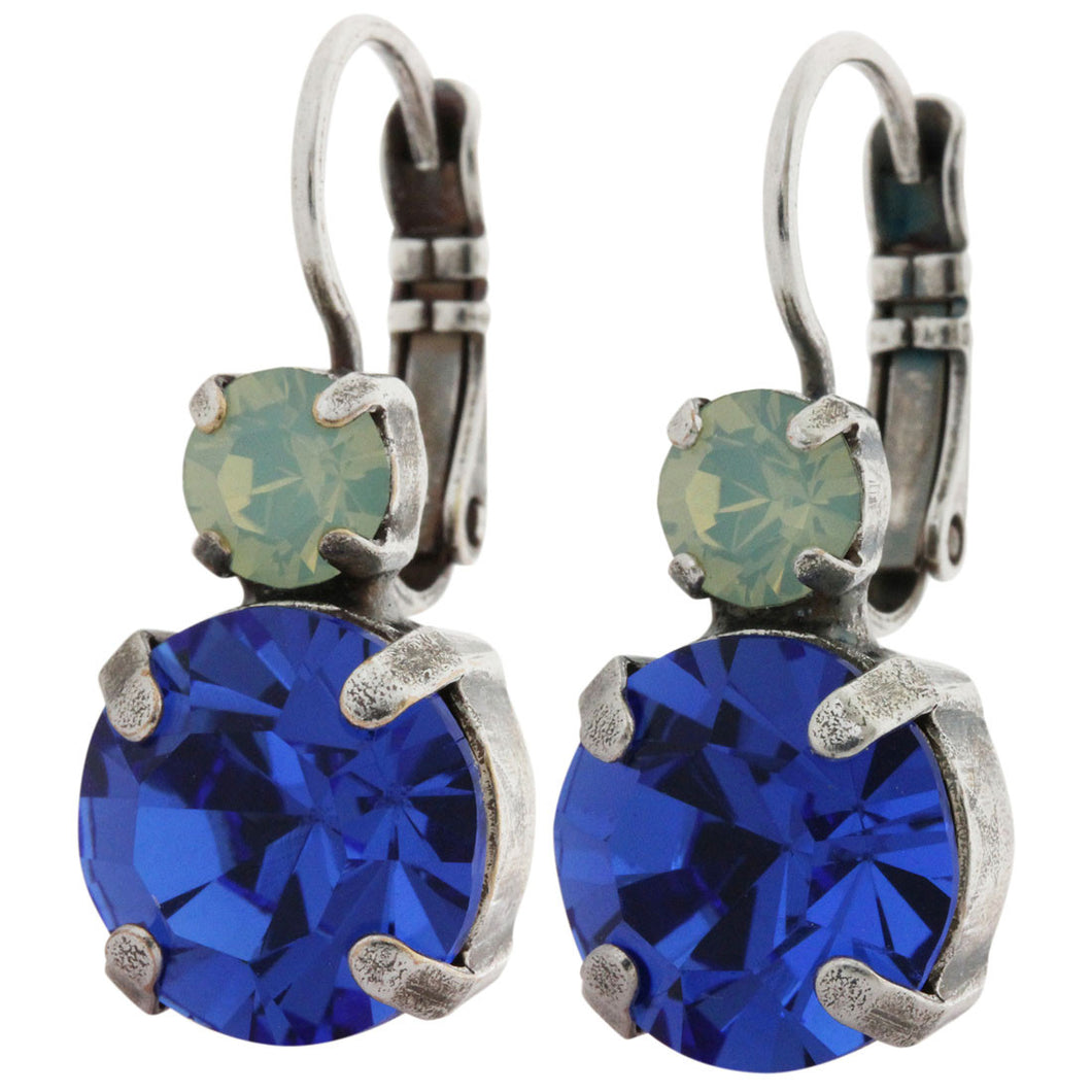 Mariana Silver Plated Double Drop Medium Crystal Earrings, Zhang 1037 1041