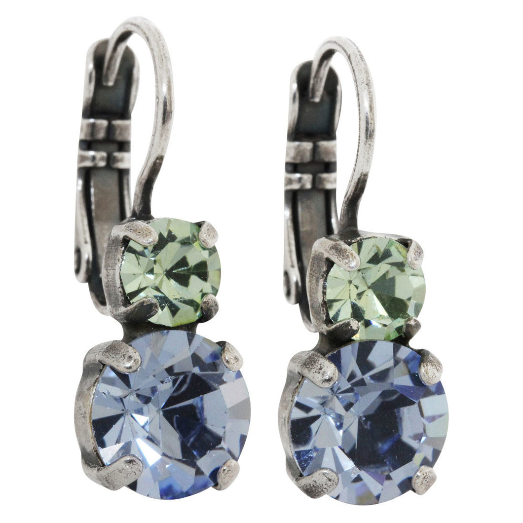 Mariana Silver Plated Double Drop Small Swarovski Crystal Earrings, California Dreaming 1190 1067