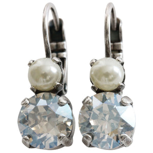 "Mariana ""Champagne and Caviar"" Silver Plated Double Drop Small Swarovski Crystal Earrings, 1190 3911"