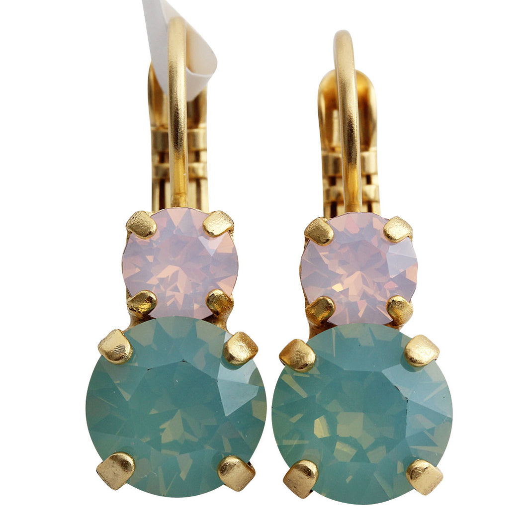 Mariana Gold Plated Double Drop Small Swarovski Crystal Earrings, Eternity 1190 1028yg