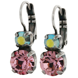 Mariana Silver Plated Double Drop Small Swarovski Crystal Earrings, Summer Fun 1190 3711