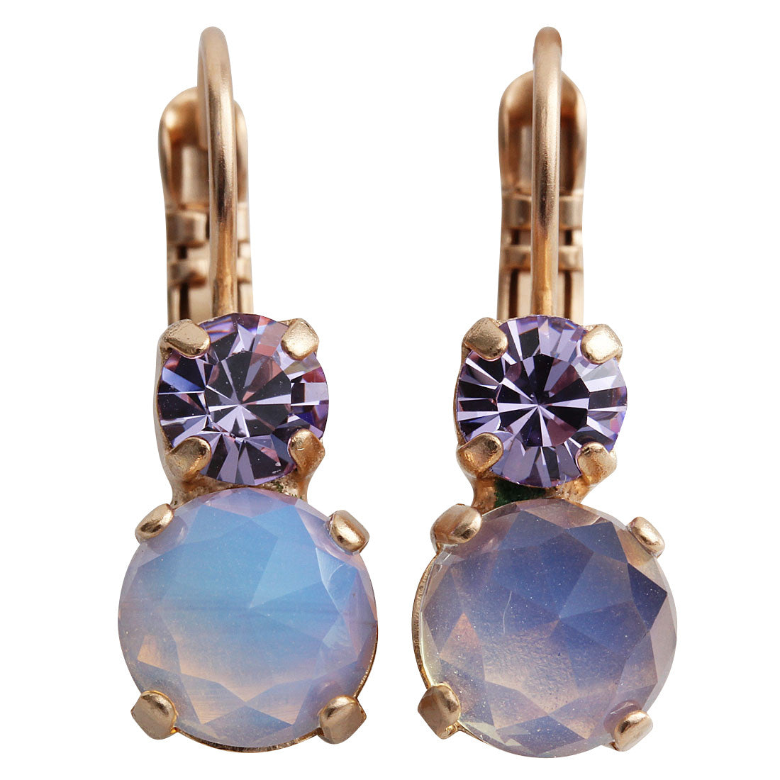 Mariana Rose Gold Plated Double Drop Small Swarovski Crystal Earrings, Twilight 1190 M83371mr