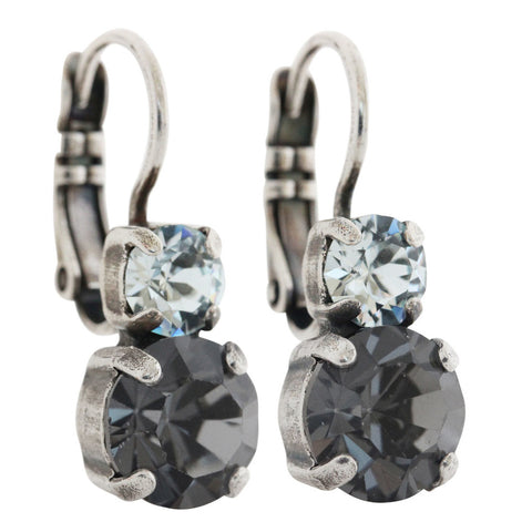 Mariana Silver Plated Double Drop Small Swarovski Crystal Earrings,  Zulu 1190 1080