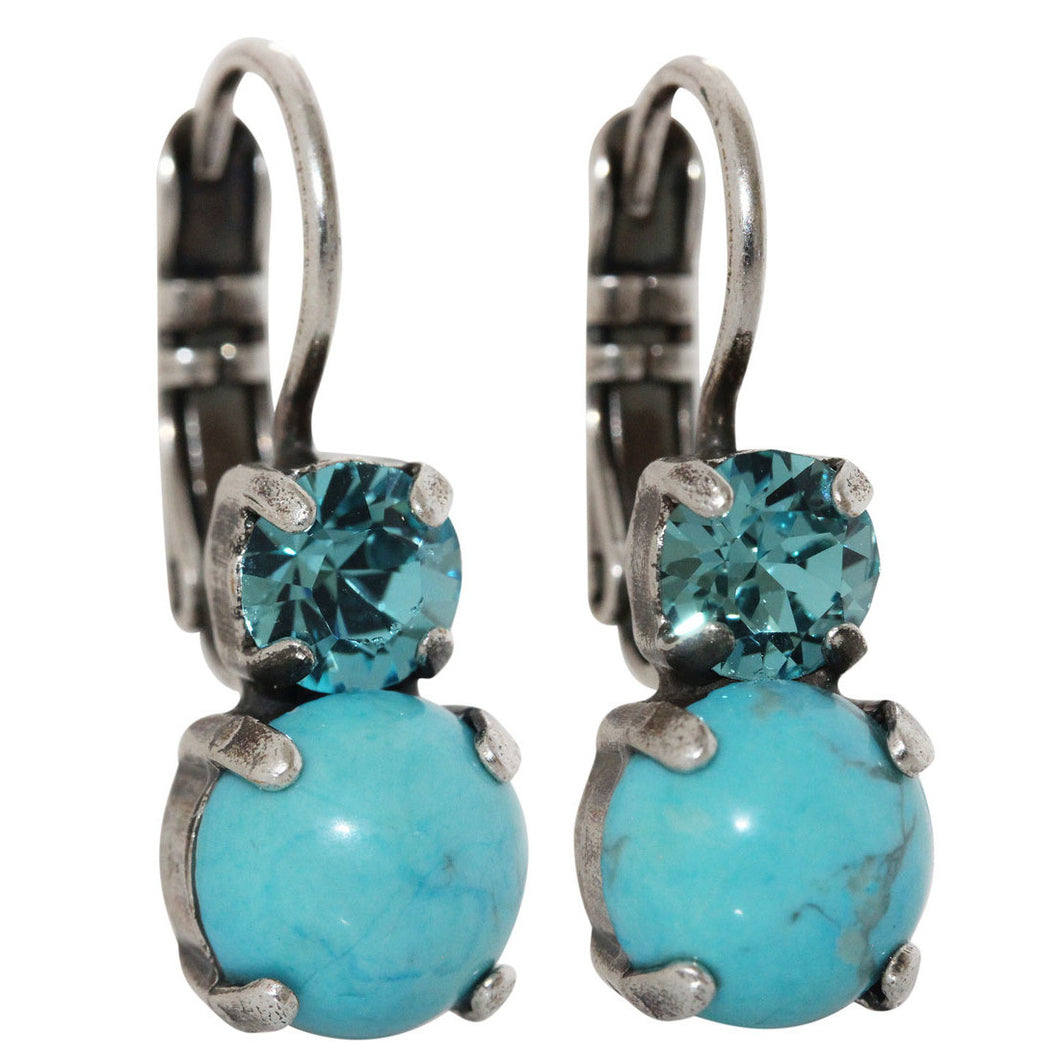 Mariana Silver Plated Double Drop Small Swarovski Crystal Earrings,  Zambezi 1190 m1082