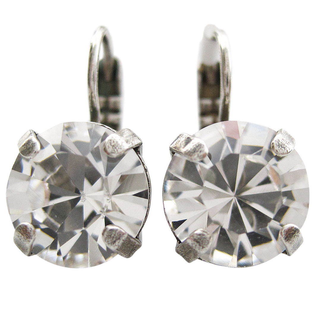 Mariana Silver Plated Medium Drop Swarovski Crystal Earrings, On A Clear Day 1448A 001