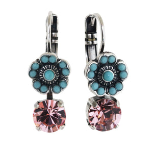 "Mariana ""Summer Fun"" Silver Plated Floret Drop Small Swarovski Crystal Earrings, 1211 3711"