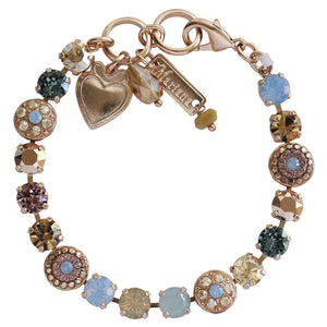 "Mariana ""Rhapsode"" Rose Gold Plated Flower Shapes Swarovski Crystal Bracelet, 7.25"" 4044 1092mr"