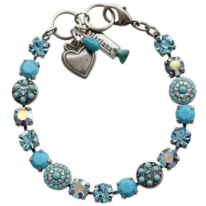 "Mariana Silver Plated Flower Shapes Swarovski Crystal Bracelet, 7.25"" Bliss 4044 2672"