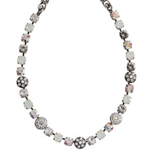 "Mariana Silver Plated  Flower Shapes Swarovski Crystal Necklace, 16"" On A Clear Day White 3044/1 001"