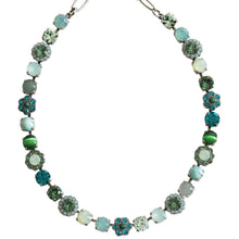 "Mariana ""Congo"" Silver Plated Floret Shapes Swarovski Crystal Necklace, 18"" 3173/4 M1076"