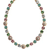 "Mariana Gold Plated Flower Shapes Swarovski Crystal Necklace, 18"" Eternity 3044/1 1028yg"