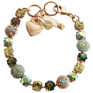 "Mariana Rose Gold Plated Flower Shapes Swarovski Crystal Bracelet, 7.25"" Golden Ariel 4044 811mr"