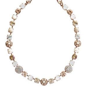 "Mariana Rose Gold Plated Flower Shapes Swarovski Crystal Necklace, 16"" Kalahari 3044/1 m1078rg"