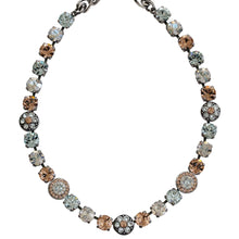 "Mariana Silver Plated Flower Shapes Swarovski Crystal Necklace, 16"" Moon Dance 3044/1 MOL361"
