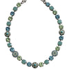 "Mariana Silver Plated Flower Shapes Swarovski Crystal Necklace, 16"" Pacific Blue 3044/1 6170"