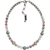 "Mariana Silver Plated Flower Shapes Swarovski Crystal Necklace, 16"" Pina Colada 3044/1 1063"