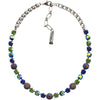 "Mariana Silver Plated Flower Shapes Swarovski Crystal Necklace, 16"" Oasis 3044/1 432"