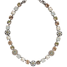"Mariana Silver Plated Flower Shapes Swarovski Crystal Necklace, 16"" Tequila Sunrise 3044/1 2102"