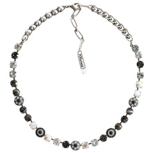 "Mariana ""Zulu"" Silver Plated Flower Shapes Swarovski Crystal Necklace, 16"" 3044/1 M1080"