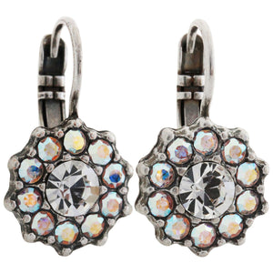 Mariana Silver Plated Daisy Swarovski Crystal Earrings, Clear AB 1157 001