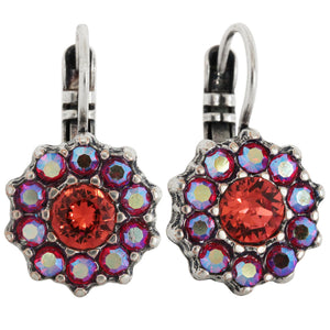 Mariana Silver Plated Daisy Swarovski Crystal Earrings, Saffron 1157 1047