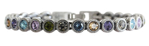 "Patricia Locke ""Game, Set, Match"" Sterling Silver Plated Bracelet, 7"" Tranquility BR0205S"