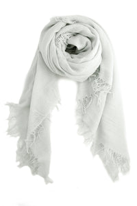 Chan Luu Cashmere and Silk Scarf Wrap - Glacier Grey BRH-SC-140