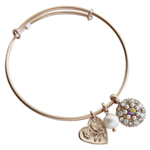 "Mariana Guardian Angel Swarovski Crystal Bangle Bracelet, 2.5"" ""Aurora"" 4612M 1093mr"