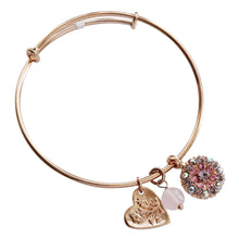 "Mariana Guardian Angel Swarovski Crystal Bangle Bracelet, 2.5"" ""Flamingo"" 4612M 319rg"