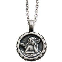 "Mariana Guardian Angel Swarovski Crystal Pendant Necklace, 19"" Blue Lagoon 5212 1205"