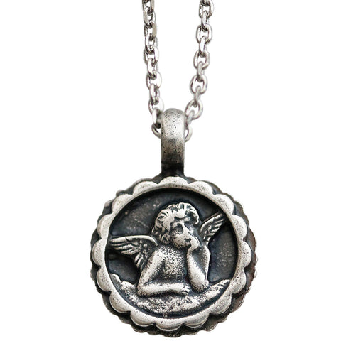 Mariana Guardian Angel Swarovski Crystal Pendant Necklace, 19
