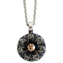 "Mariana Guardian Angel Swarovski Crystal Pendant Necklace, 16"" Black Velvet 5212 1073"