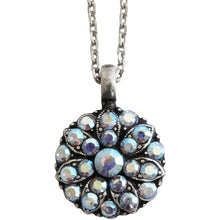"Mariana Guardian Angel Swarovski Crystal Pendant Necklace, 19"" Blue AB 5212 211AB"