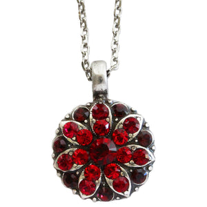 "Mariana Guardian Angel Swarovski Crystal Pendant Necklace, 16"" Lady in Red 5212 1070"