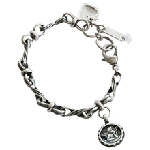 "Mariana Silver Plated Guardian Angel Charm Crystal Bracelet, 7.25"" Summer Fun 4026/3 3711"