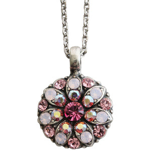 "Mariana Guardian Angel Swarovski Crystal Pendant Necklace, 19"" Pink AB 5212 2230"