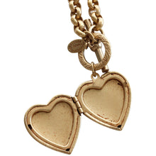 "Catherine Popesco 14k Gold Plated Heart Locket Toggle Necklace, 16.5"" 1564G"