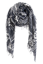 Chan Luu Cashmere and Silk Scarf Wrap - Hibiscus Print Eclipse BRH-SC-433