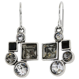 Patricia Locke Hotsy Totsy Sterling Silver Plated Earrings, Black and White EF0952S