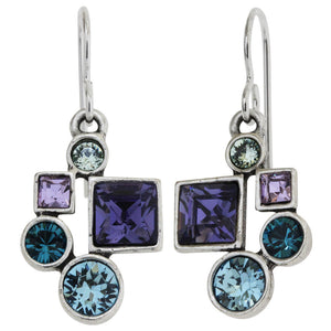 Patricia Locke Hotsy Totsy Sterling Silver Plated Swarovski Crystal Multi Color Earrings, Waterlily EF0952S