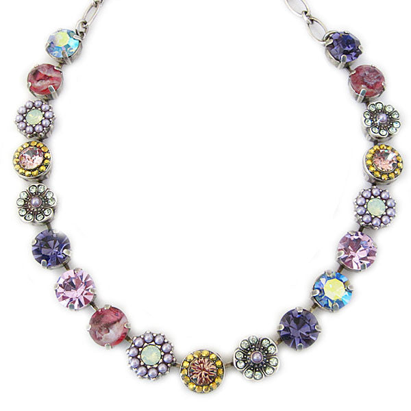 Mariana Silver Plated Large Flower Shapes Swarovski Crystal 18