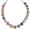 "Mariana Silver Plated Large Flower Shapes Swarovski Crystal 18"" Necklace, Iris 3084 1327"