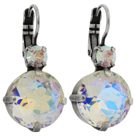 Mariana Silver Plated Statement Large Drop Swarovski Earrings, Crystal AB 1506 001AB