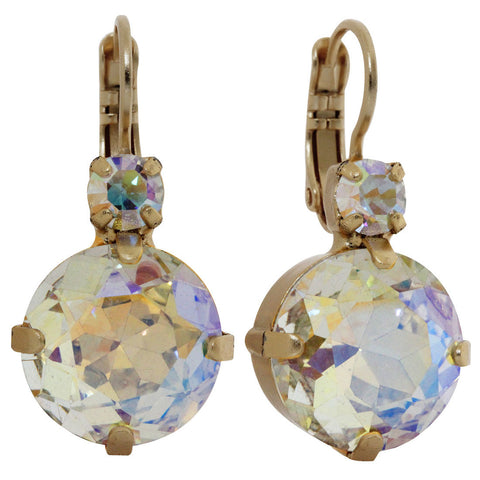 Mariana Gold Plated Statement Large Drop Swarovski Earrings, Crystal AB 1506 001AByg