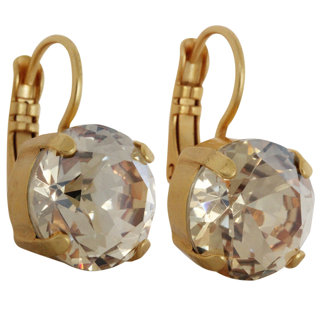 Mariana Gold Plated Medium Drop Swarovski Crystal Earrings, Golden Shadow 1448A 216yg