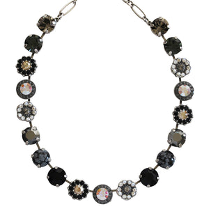 "Mariana ""Adeline"" Silver Plated Large Flower Shapes Swarovski Crystal 18"" Necklace, 3084 M1094"