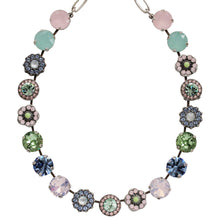 "Mariana Silver Plated Large Flower Shapes Swarovski Crystal 18"" Necklace, California Dreaming 3084 1067"