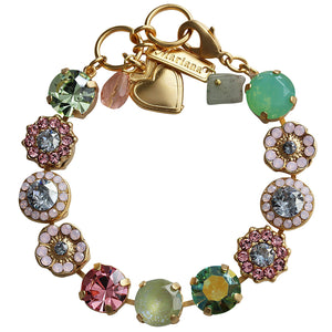 "Mariana ""Eternity"" Gold Plated Large Flower Shapes Swarovski Crystal Bracelet, 4084 1028yg"