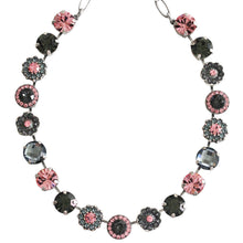 "Mariana ""Madagascar"" Silver Plated Large Flower Shapes Swarovski Crystal 18"" Necklace, 3084 1083"
